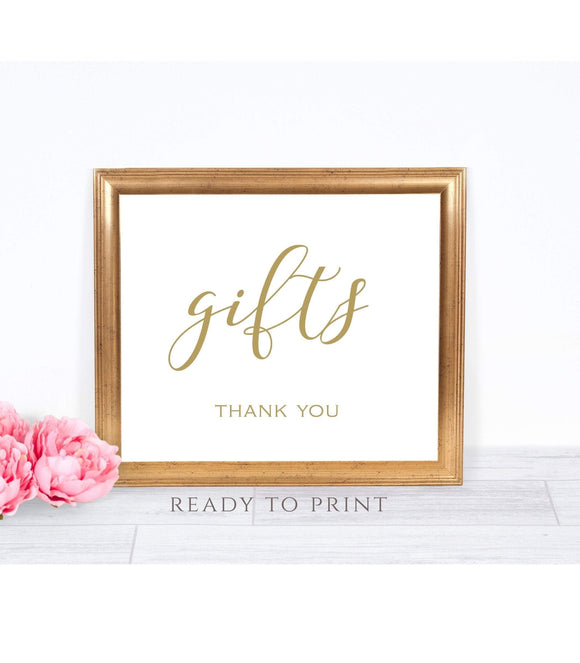 Gifts Wedding Sign Printable gift sign Instant Download party gift sign Printable SHG - You Can Print