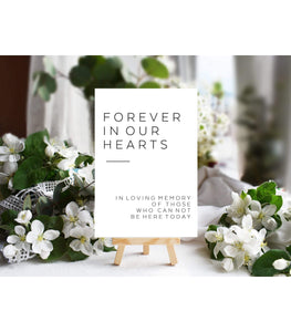 Greenery Wedding In Loving Memory Sign Template,Wedding Memorial Sign - You Can Print