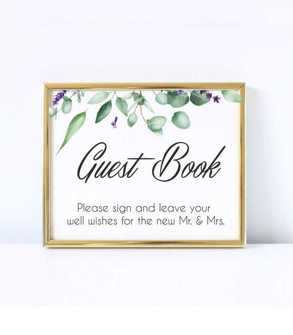 Guest book Well Wishes Sign Template Guest Book Printable Instant Gree  EL2 - You Can Print