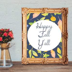 Happy fall yall sign,fall porch sign,happy fall wreath,printable Gobble gobble yall - You Can Print