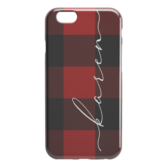 Christmas Bufalo Red Phone Case Personalized
