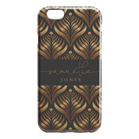 Luxury Black Gold Custom Name iPhone Case Personalized Phone Case for iPhone