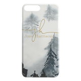 Personalised phone case winter rustic custom name hard plastic phone cover for apple iphone 5 5s 6 7 8 11 Pro Xs Xr Max TL