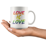 Love is Love 11oz White Ceramic Mug, Love Coffee Mug, Coffee Lover Breakfast Cup - You Can Print