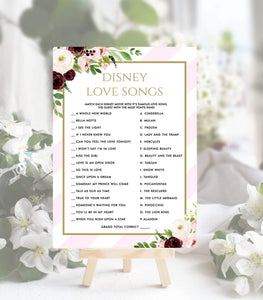 Love Songs Instant Download Bridal Shower Game Printable wedding, PS, PG - You Can Print