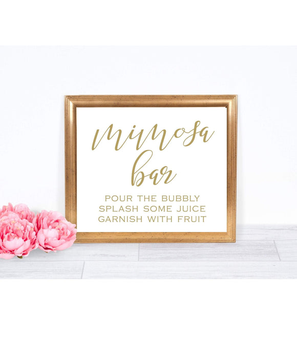 Mimosa instant download Mimosa Sign printable Mom-osa Bar digital SHG - You Can Print