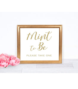 Mint to Be Wedding . Mint to Be Wedding Favors, Mint to Be, SHG - You Can Print