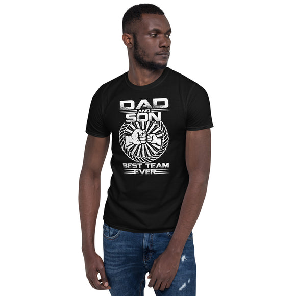 Dad and Son Best Team Ever fathers Day gift for Dad Fathers Day Shirt Best dad shirt Papa Shirt Dad joke Shirt - You Can Print