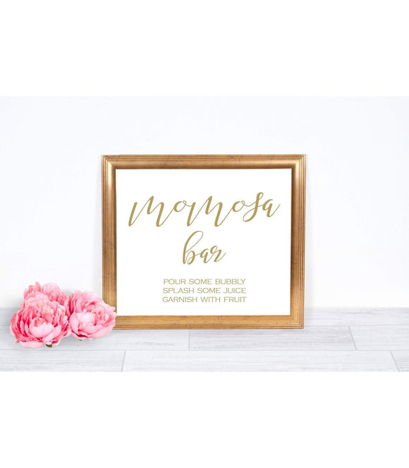 Mom-osa Bar Sign Mimosa template Momosa Bar Baby Shower , SHG - You Can Print