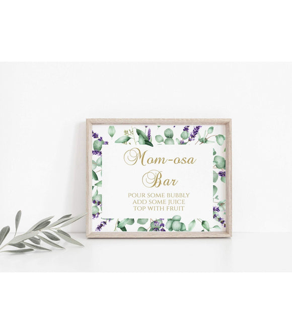Momosa bar Sign Mimosa Sign Baby Shower Printable Mom-osa s instant , EL - You Can Print