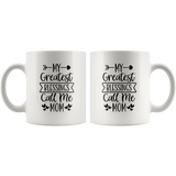 Mug With Quote - White Ceramic Coffee  Tea Mug - Mother's Day Gift - Mother's Blessings - You Can Print