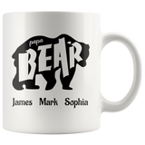 Papa Bear Mug, Pap Bear Gifts for Christmas,Birthday or Fathers Day,Personalized Coffee Mug - You Can Print