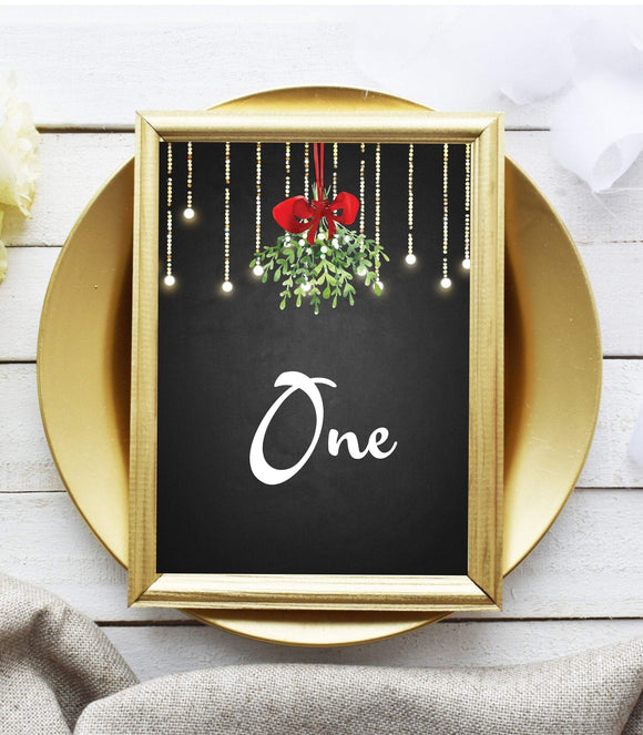 Party Christmas Table Numbers,Printable Christmas party Table Numbers - You Can Print
