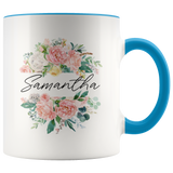 Personalised Mug, Name Mug, Custom Mug, Floral Mug - You Can Print