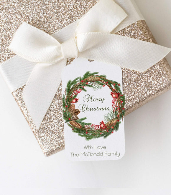 Personalized Christmas Gift Tags-Joy Gift Tags-Custom Gift Tags GT - You Can Print