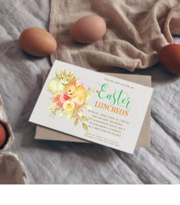 Printable Easter Invitation Easter Bunny Invite Instant Download Editable - You Can Print
