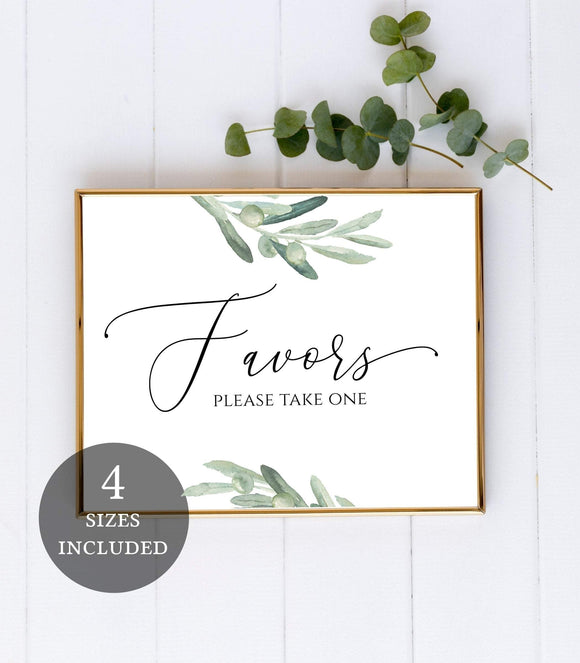Printable Favors sign Wedding Favors Sign,Favors Sign template,Favors , VO - You Can Print