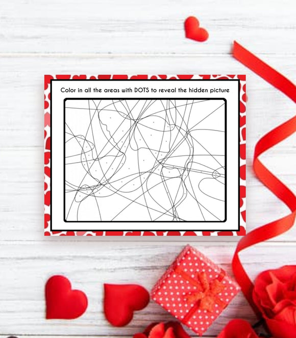 Printable Valentine's day Game Instant Download Hidden Picture party VD1,VG,PG - You Can Print