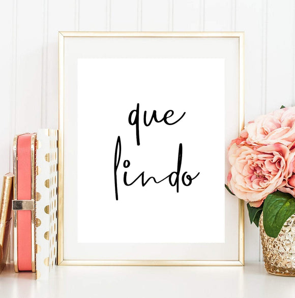 Que lindo Español Quote imprimible popular Spanish expressions printable - You Can Print