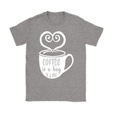 T-shirt Coffee is a hug i a mug gift for coffee lover - You Can Print