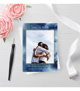 Save The Date Photo Card, Fully Editable Save The Date Photo Card, BW - You Can Print