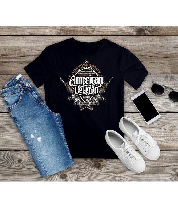 T-shirt American Veteran Patriotic Shirt Independence Day Tee - You Can Print