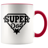 Super Dad Coffee Mug, Father's Day Gift, Gift for Dad Birthday, Christmas - You Can Print