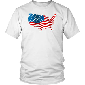 T-Shirt American Flag Tee Independence Day Unisex Shirt - You Can Print