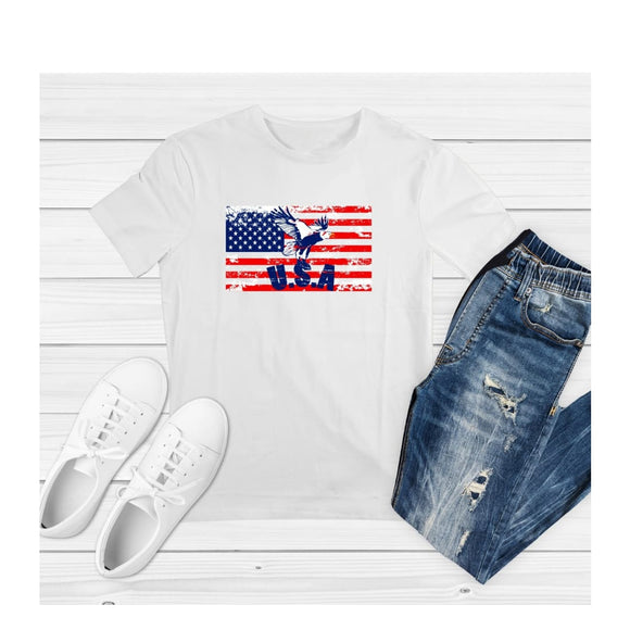 T-Shirt US Flag Independence Day Patriotic Shirt Family Tee - You Can Print