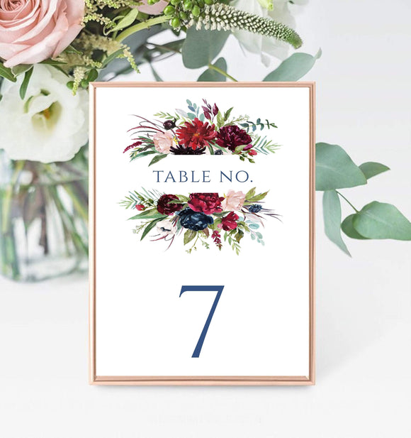 Table Number Template,editable Table Number,Printable Table Number BG - You Can Print