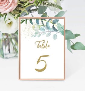 Table Number Template, Table Numbers, Printable Table Numbers, number 5 GG - You Can Print