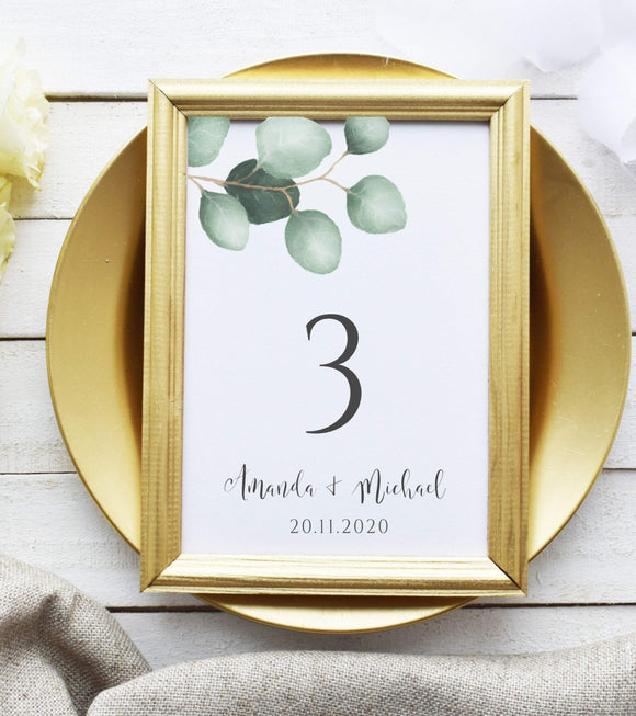 Table Number Template, Table Numbers, Printable Table Numbers, EP - You Can Print