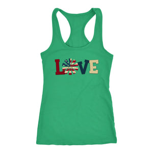 Tank Top Love America US Flag Tank Top Women - You Can Print