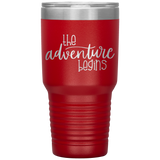 The Adventure Begins 30 Ounce Vacuum Tumbler Gift Ideas - You Can Print
