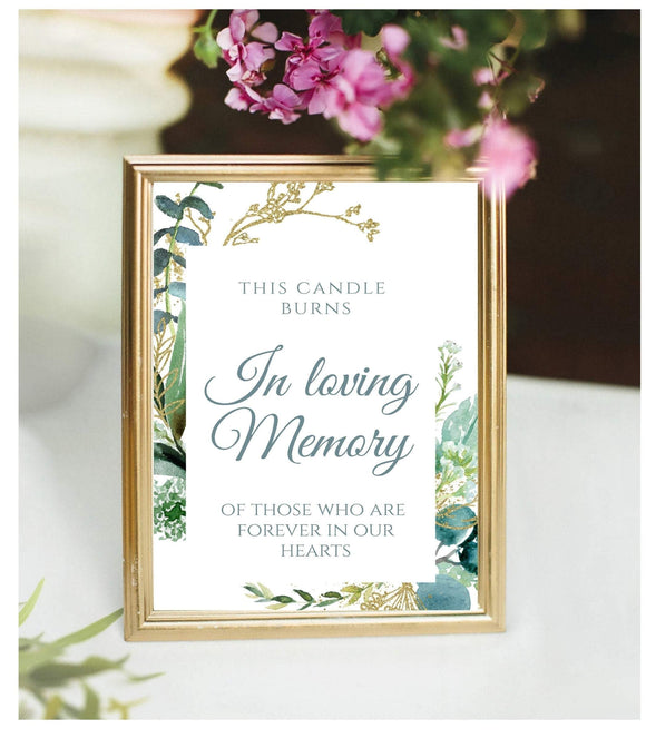 This Candle Burns In Loving Memory Table Sign Printable reserved for GG - You Can Print