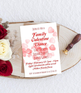 Valentine Dance Party Invitation, Family Valentine Dance, Instant Download, VD1 - You Can Print