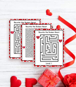 Valentine Party Games Instant Download Reunite Broken Heart,VD1, VG, PG - You Can Print