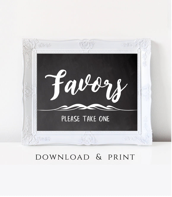 Wedding Favor sign printable party Favors Sign instant download Party treat Sign digital Favor Sign Printable party gifts and treats 7x5, CH - You Can Print
