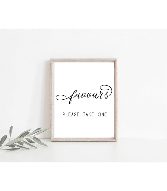 Wedding Favors Sign Template Please Take a Treat Guests Favors Sign Wedding Sign Favors Printable Wedding Favor Sign Template Party favor,SF - You Can Print