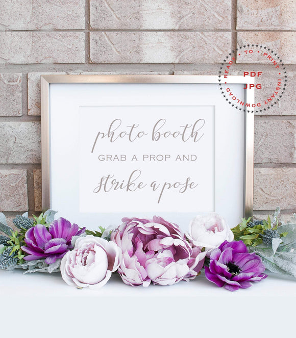 Wedding Photo Booth Sign, Photo Booth Sign Printable,Wedding Signage,Selfie Station Sign,Wedding Day Sign Wedding Reception Signs,Props,SHS - You Can Print