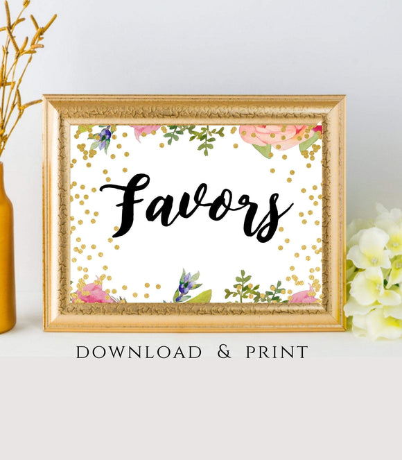 Wedding reception sign Wedding Favor Sign Favor Take one Party Favor Sign Printable Favor Sign Favor Instant Download party reception,7x5,FB - You Can Print