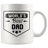 World's Best dad Coffee Mug, Father's Day Gift, Gift for Dad Birthday, Christmas - You Can Print