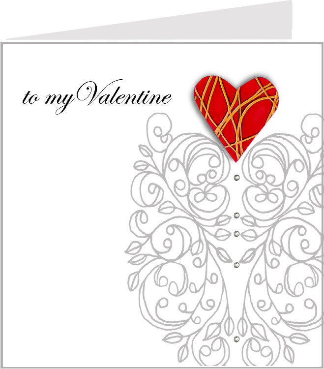 Hopscotch Valentino greetings card 01-032