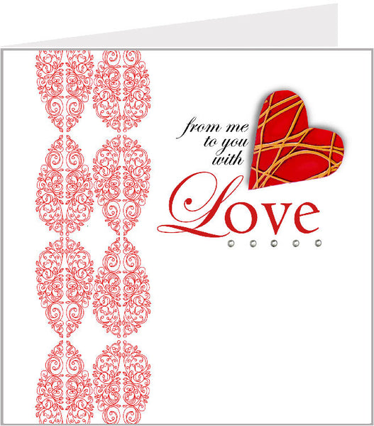 Hand made greetings card, with all my love 01-036