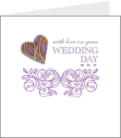 hopscotch rococo wedding day card