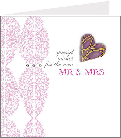 hopscotch rococo new mr & mrs wedding card