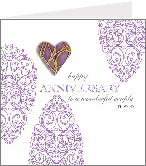 hopscotch rococo anniversary card