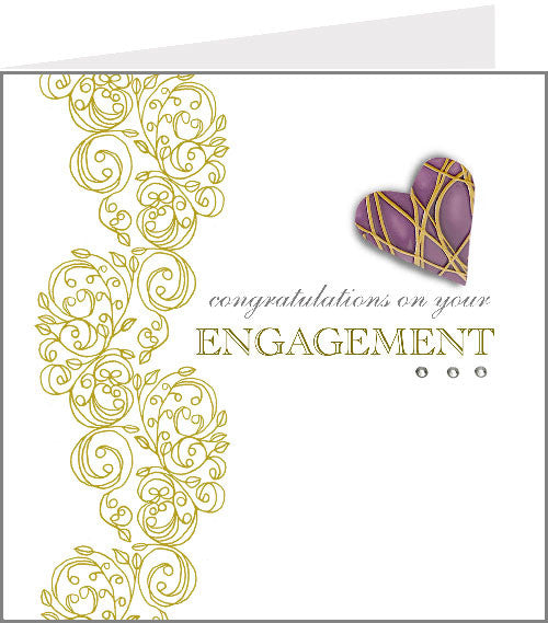 hopscotch rococo engagement card