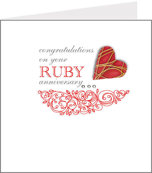 hopscotch rococo ruby anniversary card