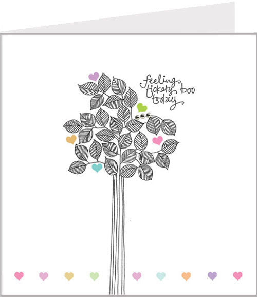Hand made greetings card with pretty tree from Valerie Valerie